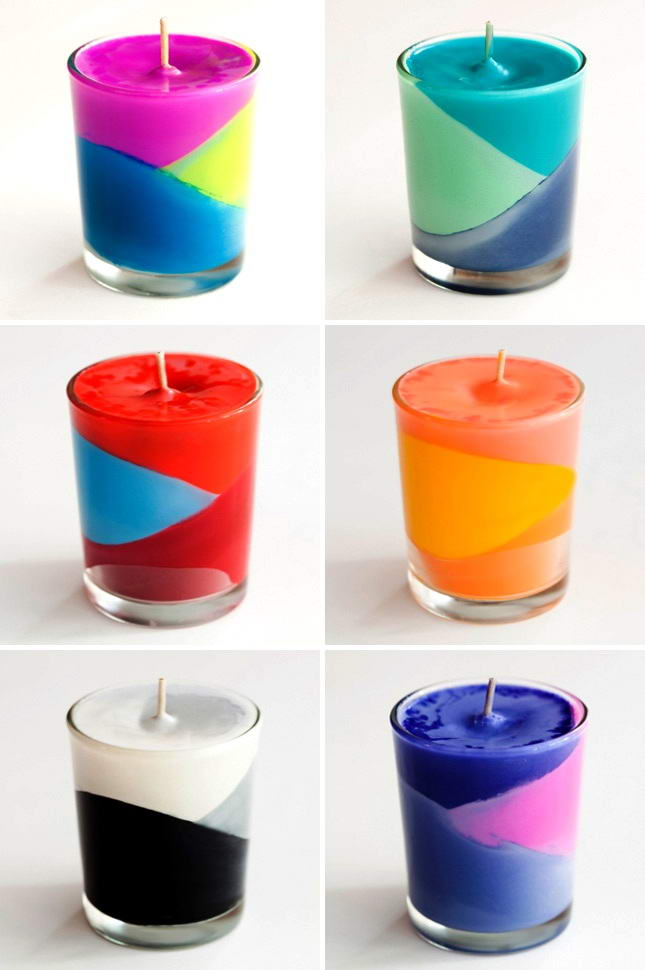 These Adorable Color Block Crayon Candles Can Be Made At Home!
