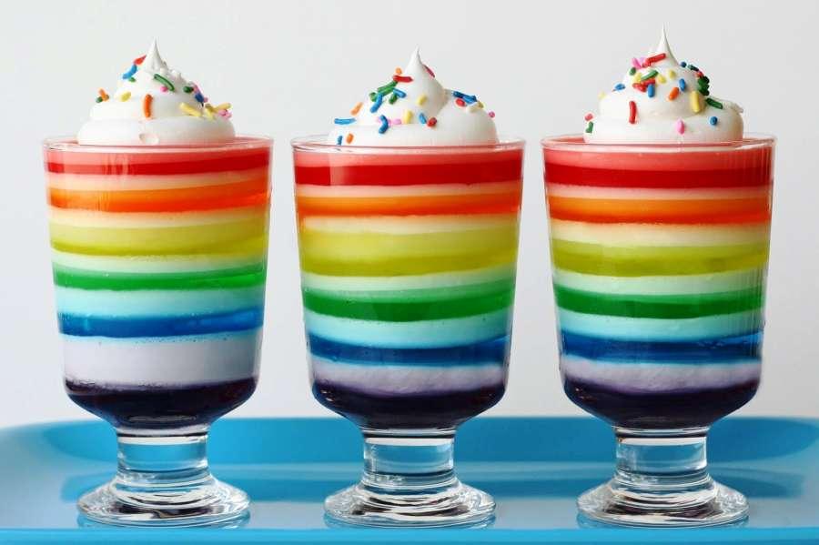 diy rainbow jello