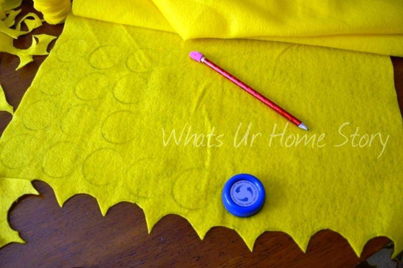 diy felt circle pillow