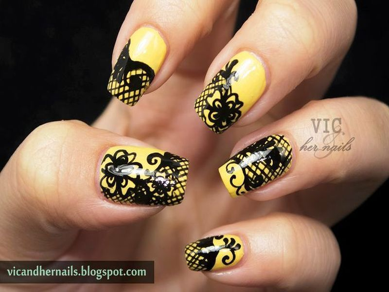 Will You Try These Pretty Lace Nail Arts?