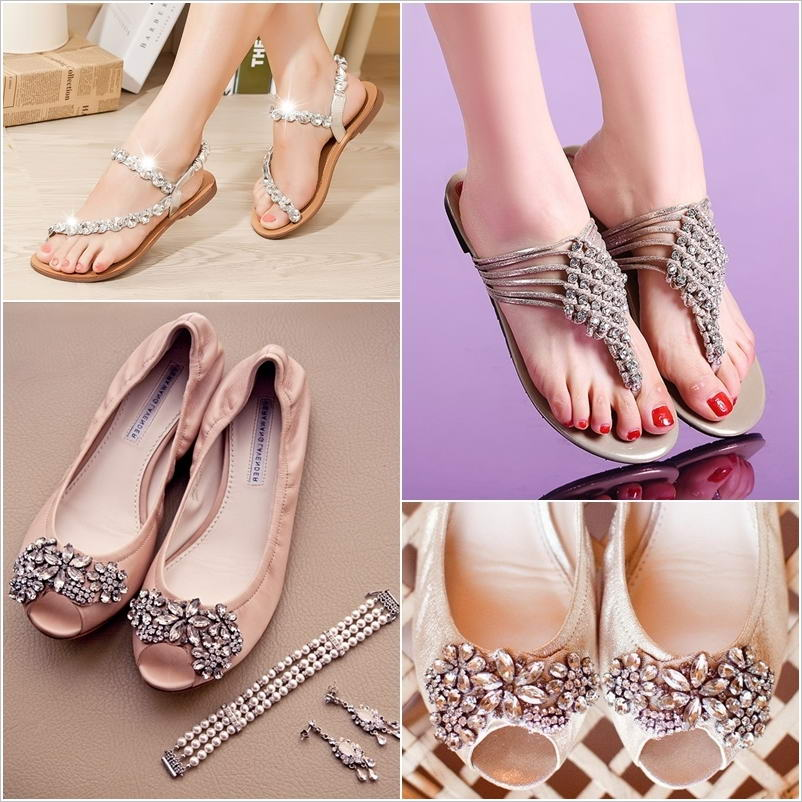 Every bride will love to wear these wedding flat sandals junglespirit Choice Image
