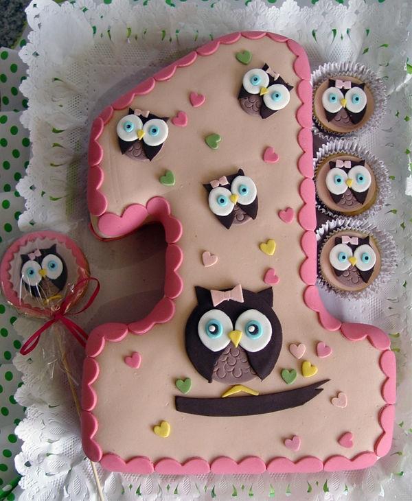 Boy Owl First Birthday Cake Owl Themed 1st Birthday Smash Cakes