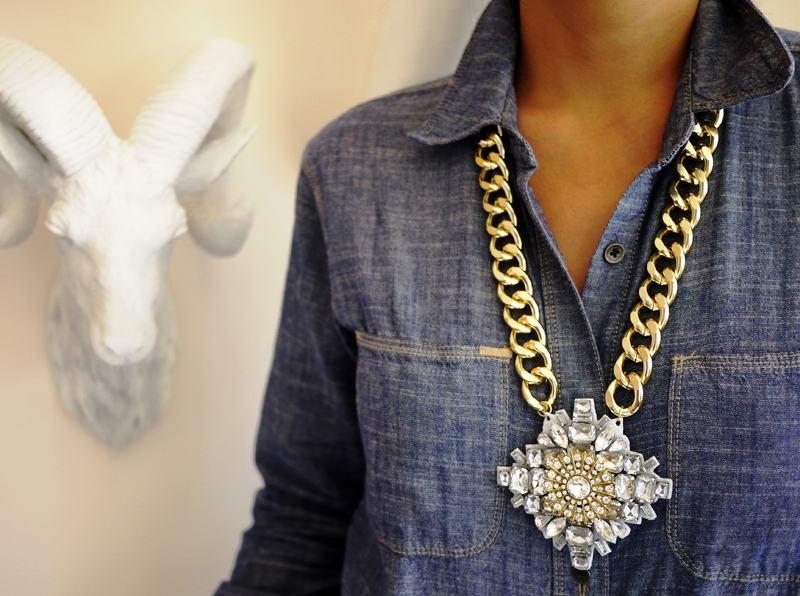 diy crystal pendant necklace