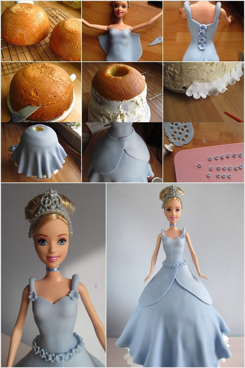 How To Make A Doll Cake Using Fondant