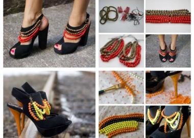 diy burberry tribal heels