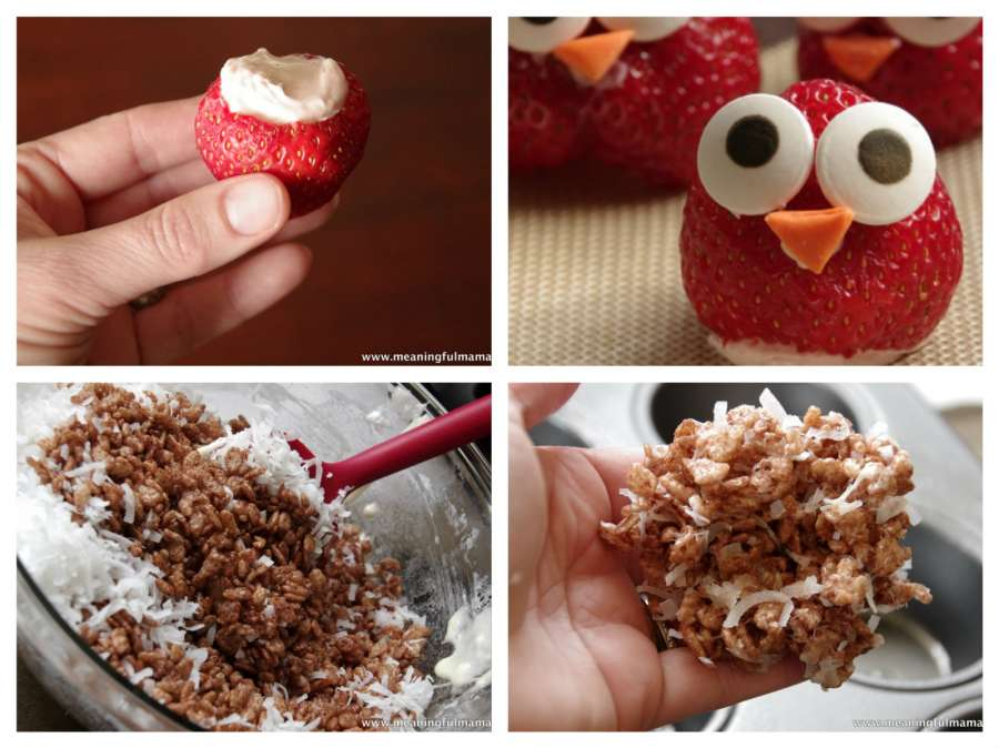 owl strawberries with philadelphia cream cheese