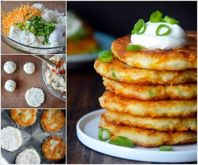 Try These Cheesy Mashed Potato Pancakes for Dinner