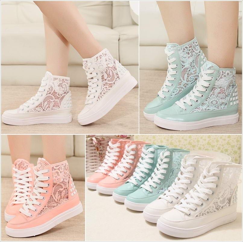 Superga Lace Sneakers - White - Polyvore