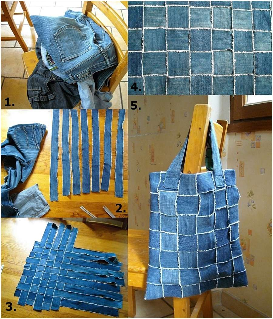 Recycle Your Old Jeans into This Amazing Woven Bag