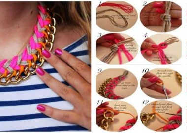 diy chevron chain necklace