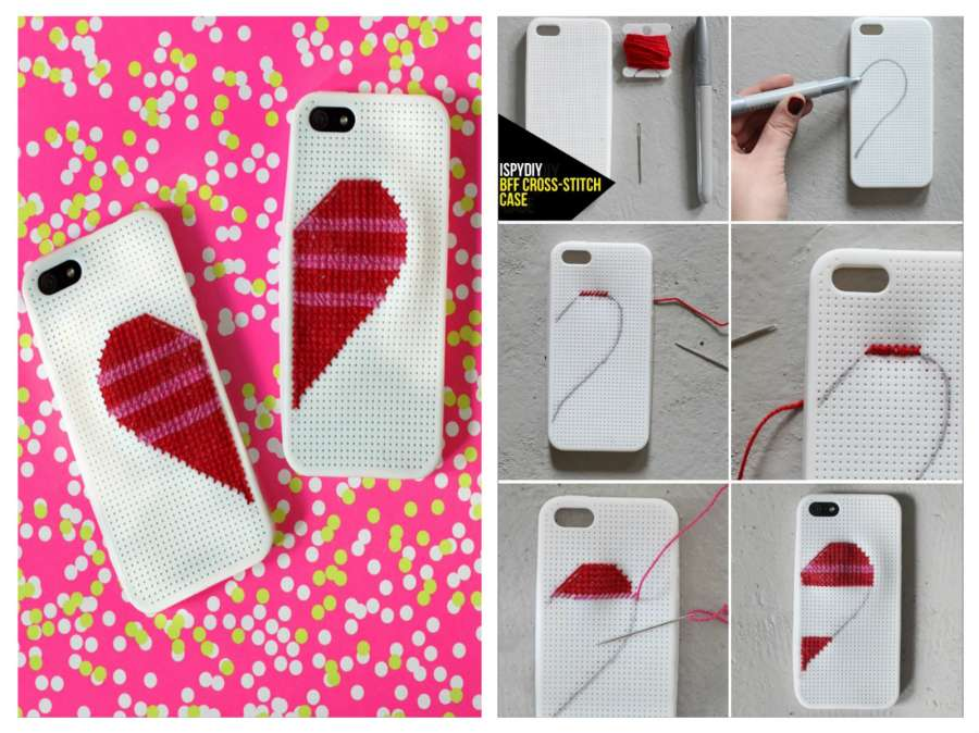 diy cross-stitch phone case