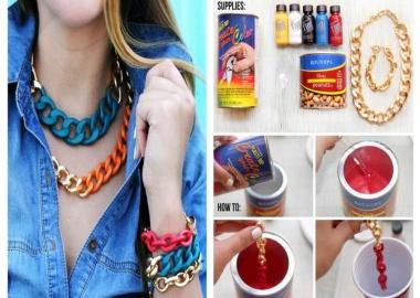 diy bright chain jewelry