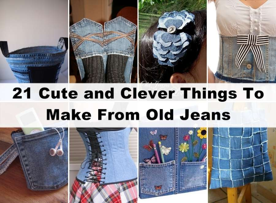 21 Creative Ways To Recycle Old Jeans