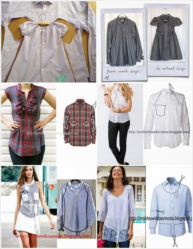 13 fabulous ideas to refashion old shirts solutioingenieria Choice Image