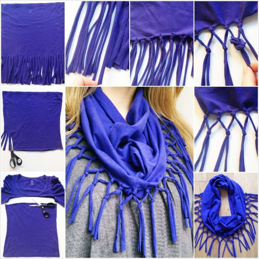 Recycle An Old T Shirt Into A Stylish Scarf Daily Feed