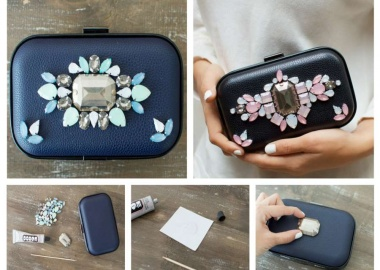 diy jeweled clutch