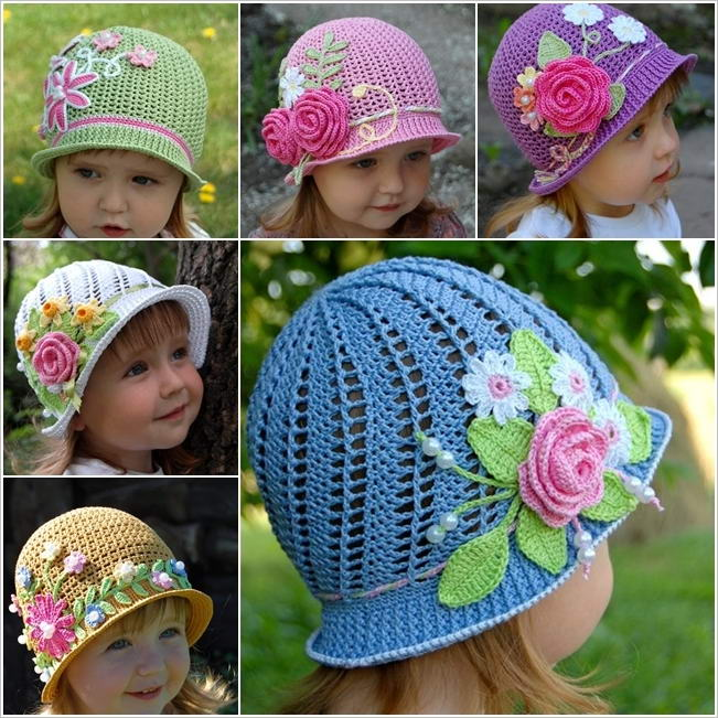 Free Crochet Patterns Baby Swaddlers : Cute and Trendy Crochet Sun Hats for Your Baby