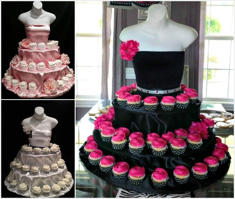 Stylish board unique cupcake stands for parties and weddings