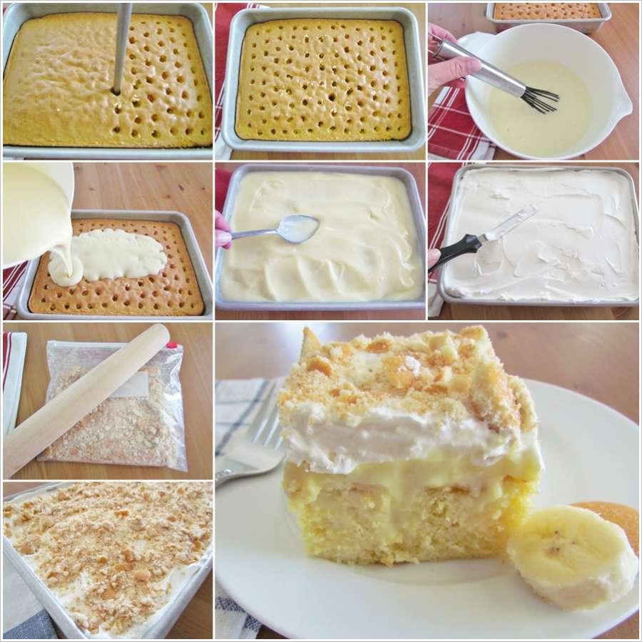 Banana Pudding Poke Cake From Scratch