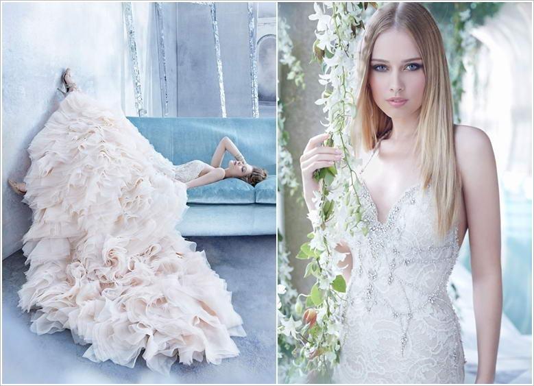 Awe-Inspiring Crystal Detailed Wedding Gowns