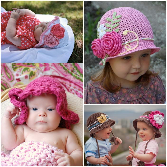50cebf3dac0 Cute and Trendy Crochet Sun Hats for Your Baby
