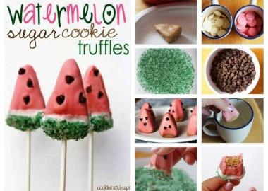 watermelon sugar cookie truffles