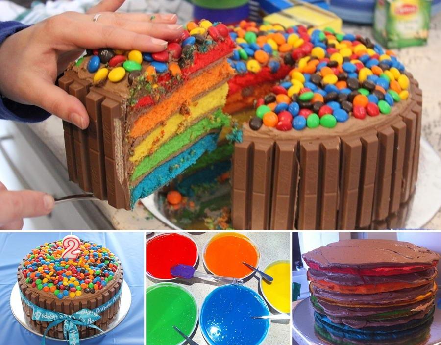 Delicious Rainbow Cake