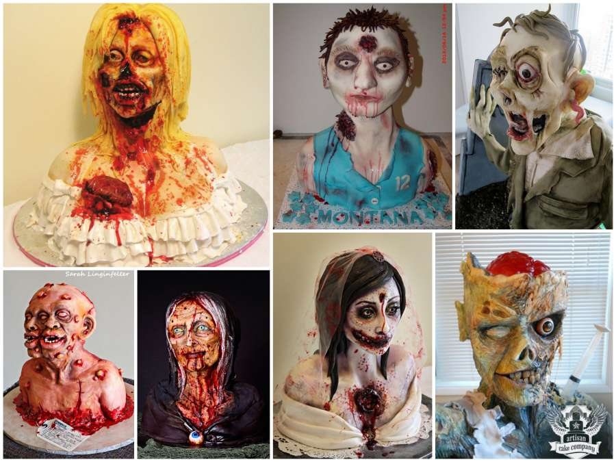 Cake Artist Sarah Jones : Deliciously Horrible Super Scariest Zombie Cakes For ...