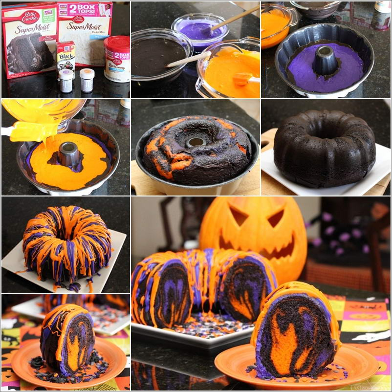 try this cool halloween rainbow party bundt cake