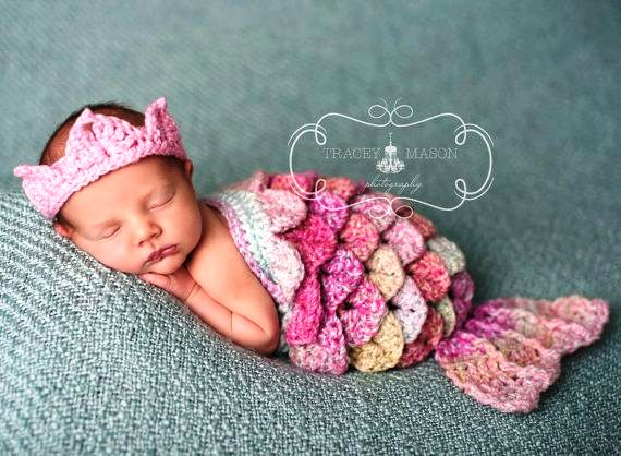 Crochet Pattern For Toddler Mermaid : 10 Baby Crochet Mermaid Costume For Your Princess!