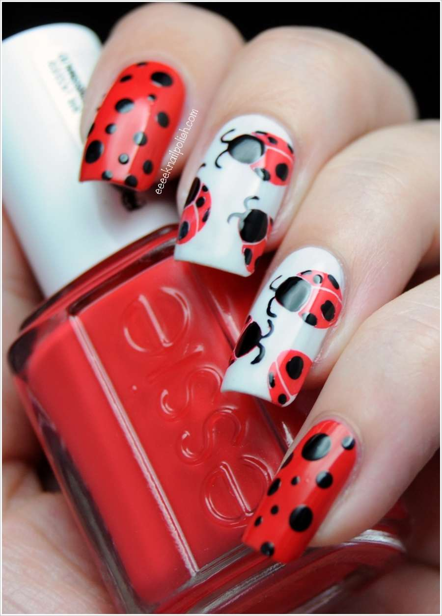 Would You Like to Paint Your Nails with Ladybug Nail Art?