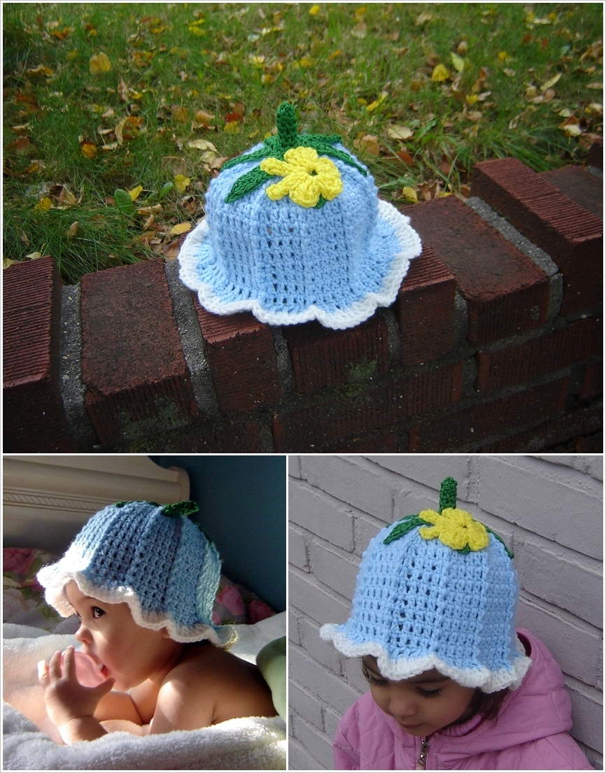 These Crochet Baby Bluebell Hats Are Simply Adorable