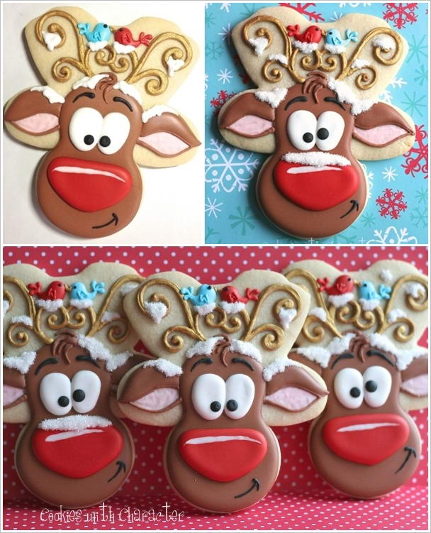 Awesome Upside Down Gingerbread Men Reindeer Cookies