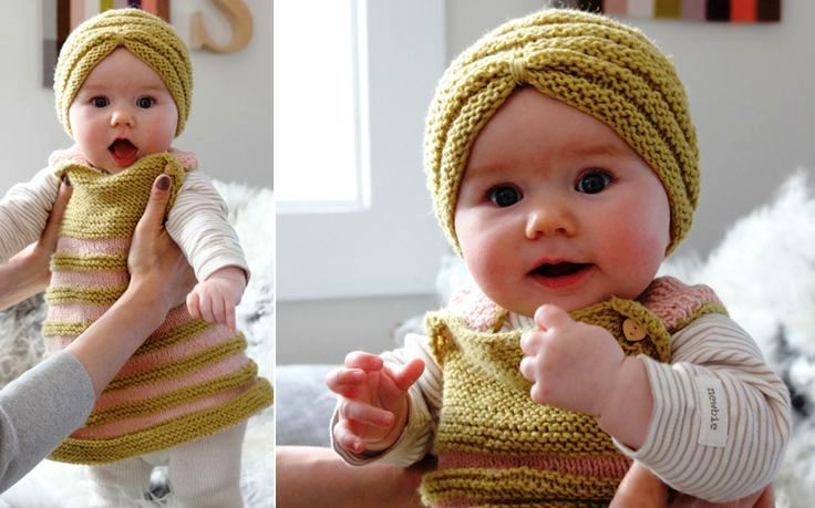 Knitting Pattern For Baby Turban : Crochet Baby Turban For Your Princess!