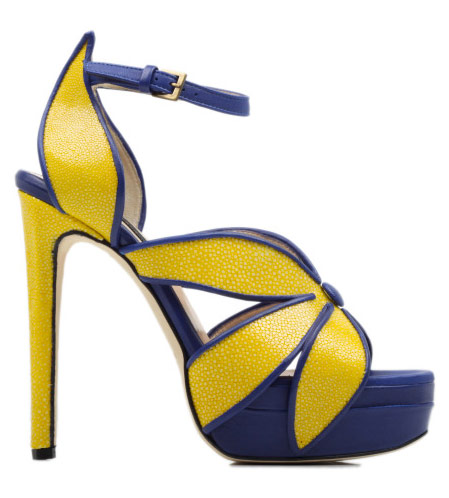 Yellow And Blue Heels - Qu Heel