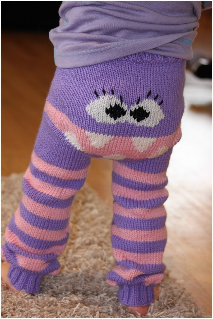 Fun and Cute Knitted Monster Pants for Your Little One