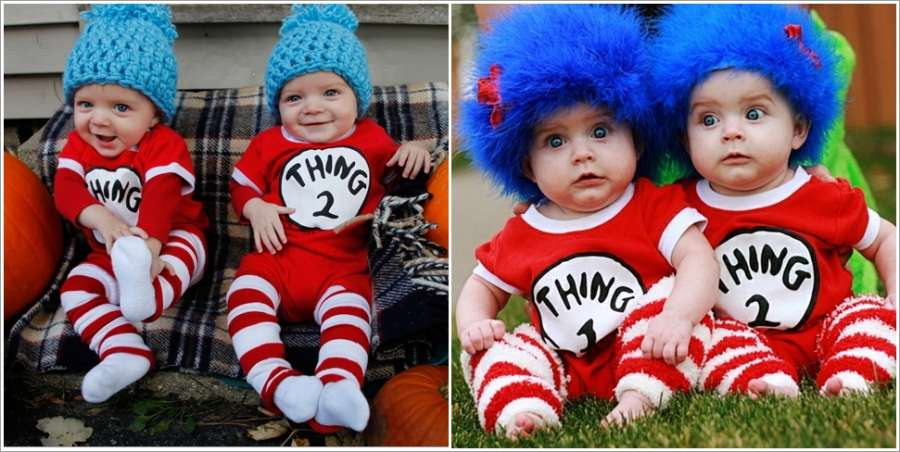 10 Cute Halloween Costume Ideas For Twin Babies Sc 1 St Marketel.info.  image number 20 of thing 1 baby costume ... aa6d08768