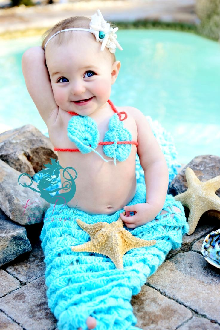 10 Baby Crochet Mermaid Costume For Your Princess!
