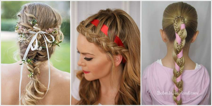 ... Ribbons with Braid Hairstyles With Ribbons also Cute Easy Hairstyle