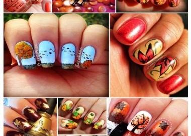 fall nail arts