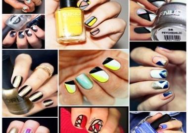 geometric nail arts