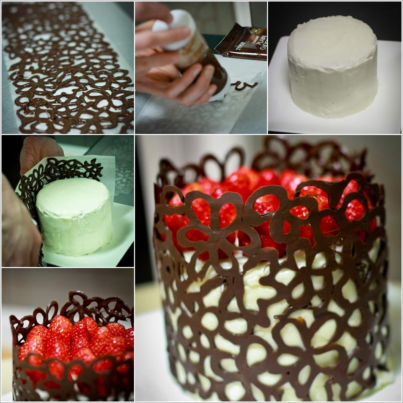 Homemade Chocolate Cake Decoration : This Chocolate Lace Cake is Simply Awesome