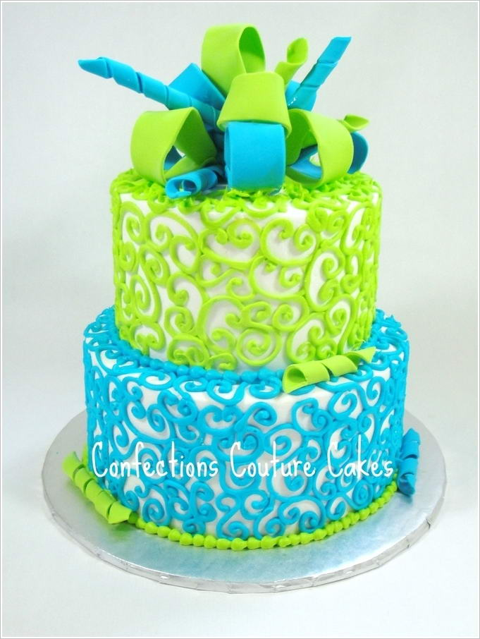 lime green and blue wedding cakes 10 lovely blue and green cake designs that you will admire 16894