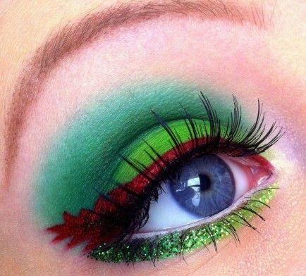 Christmas eye makeup