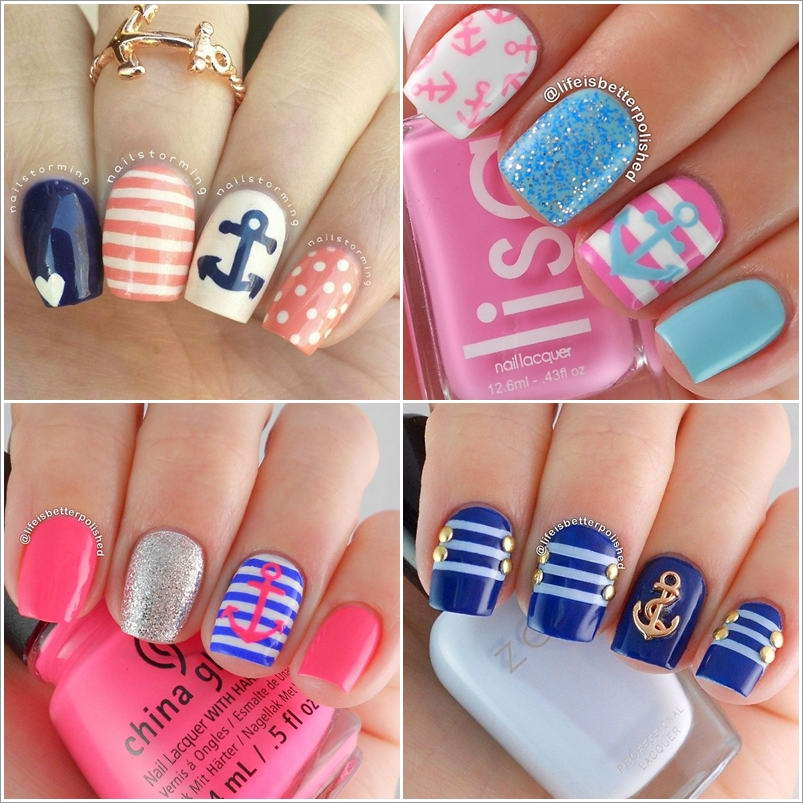 69 Anchor Nail Art Ideas That Are Purely Superb