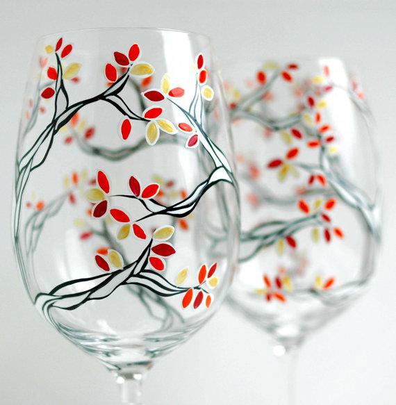 nice hand painted wine glasses design paint inspiration ideas - Wine Glass Design Ideas