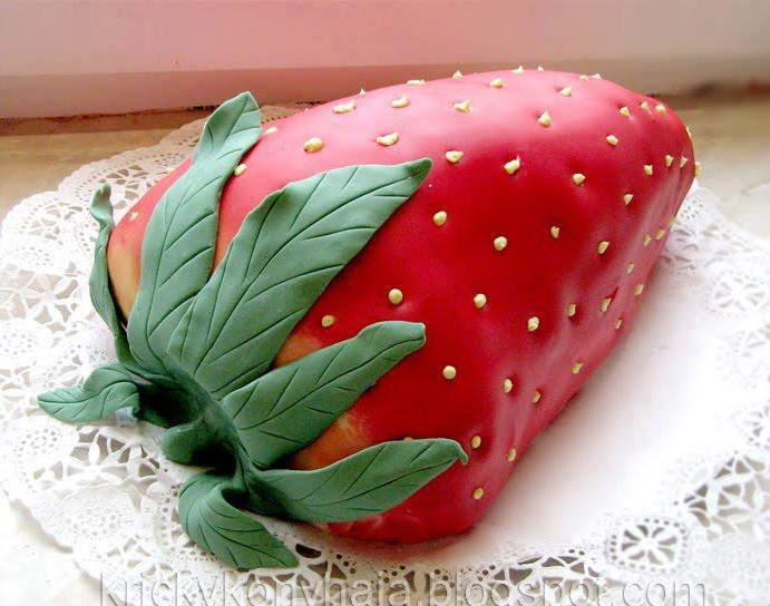 10 Strawberry Shaped Cakes To Make For Any Birthday