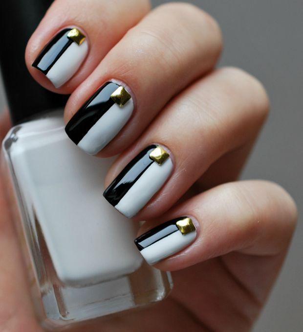 white nail arts