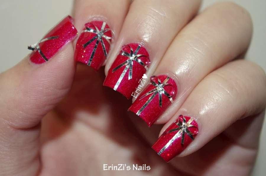 10 Christmas Gift Wrap Nail Art Ideas!