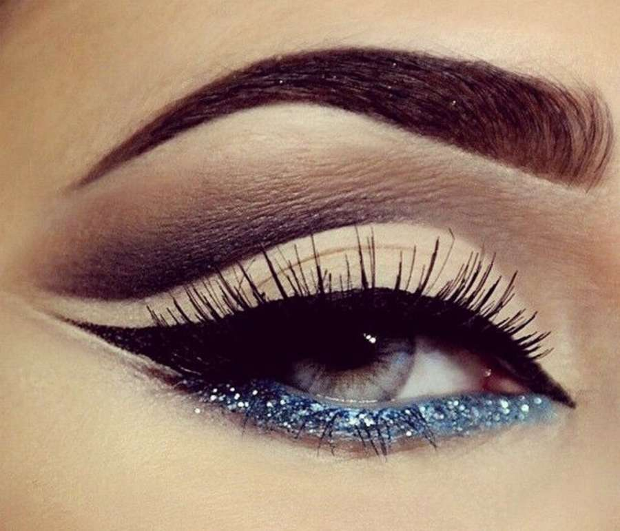 10 Glitter Lower Liner Eye Makeup Ideas!